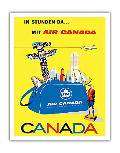 Pacifica Island Art Canada - Air Canada TCA (Trans-Canda Air Lines) - Vintage Airline Travel Poster by Roberto Floreani c.1960 - Fine Art Print - 11in x 14in