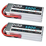 HRB x2 6S 22.2v 5000mAh RC Lipo Battery AKKU 22.2v 50C-100C with Deans T Plug For Professional Radio Controlled Models ,like MIKADO LOGO500 , ALIGN T-REX550/600 etc