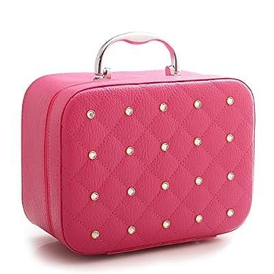 LULANSac cosmétique petit et mignon et simple portable tout-chic de l'admission d'un cas de ,25*12*18cm, rouge (grand)