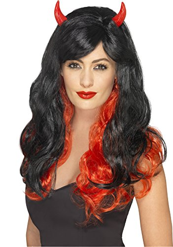 With Wig Devil Horns (Devil Wig Costume Accessory)