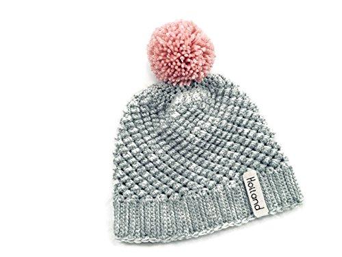 d356fa1473cb4 Amazon.com: Personalized Crochet Hat - Raspberry Cluster Hat in Gray ...