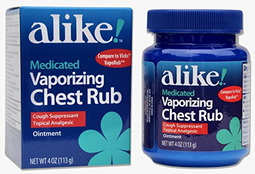 alike Vaporizing Chest rub Cough suppressant Topical analgesic Ointment, 4 Ounce
