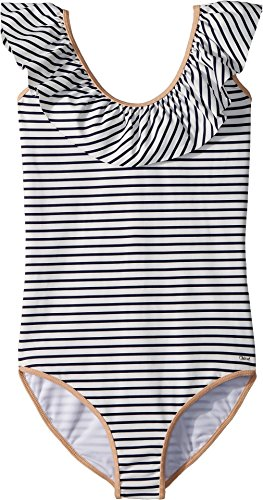 Chloe Kids Girl's Striped One-Piece Swimsuit (Big Kids) Caban 14 by Chloe