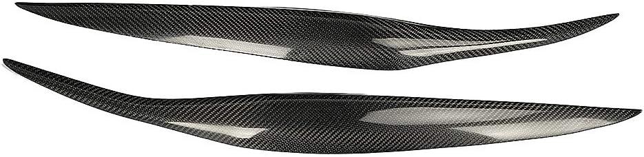 Fibra di carbonio Fari Sopracciglia Palpebre Adesivi per copertina Fari Sopracciglio Coperchio Coperchio Decorazione Styling Sticker 2 pezzi Fibra di carbonio per auto Faro per sopracciglia