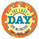 Teacher Stickers for Kids | 150 Pack | Teacher Peach Large Stickers for Grading | Last Day of School