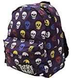 EXAS Kids Colorful Skull Print Backpack Daypack Bag Purple