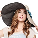 Maitose&Trade; Women's UV Sun Protection Beach Wide Brim Fishing Hat Beige