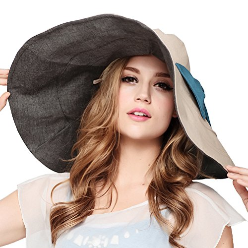Maitose™ Women's UV Sun Protection Beach Wide Brim Fishing Hat Beige (Hats For Big Women Brim)
