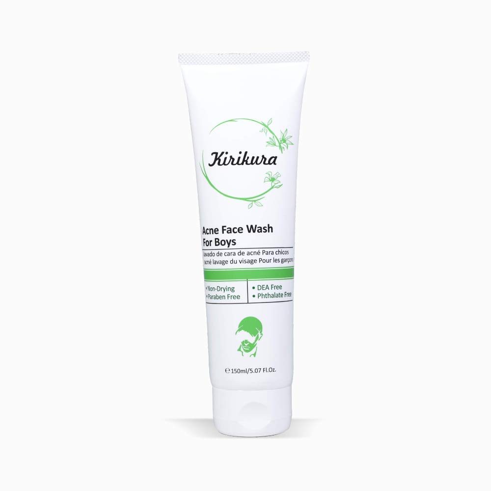KIRIKURA ACNE Face Wash, Daily face cleanser, Anti Acne cleanser for Boys.