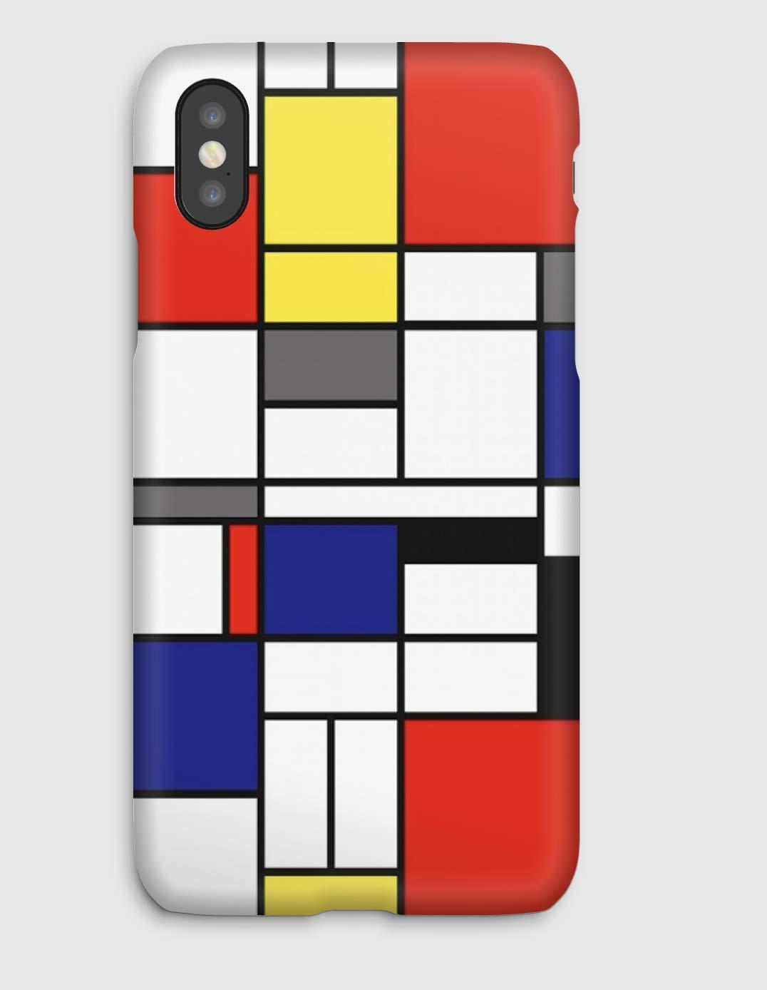Mondrian, coque pour iPhone XS, XS Max, XR, X, 8, 8+, 7, 7+, 6S, 6, 6S+, 6+, 5C, 5, 5S, 5SE, 4S, 4,