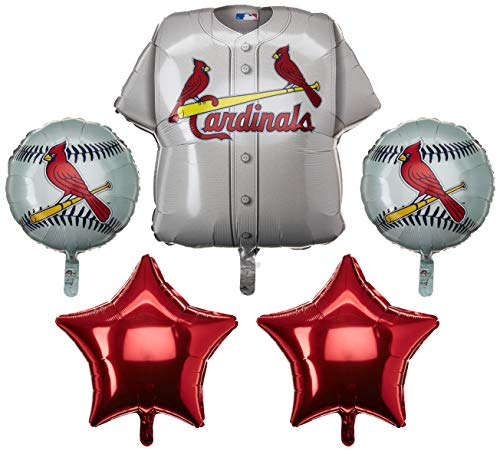 Anagram 32037 St Louis Cardinals Balloon Bouquet, Multicolored (St Louis Cardinals Birthday)