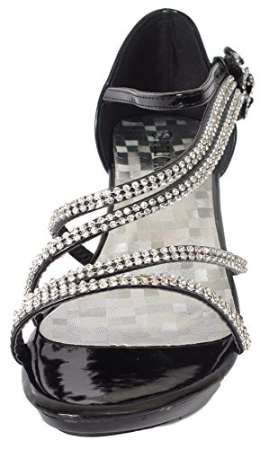 Delicatezza Donna Angel-48 Party Dress Sandali Pompe Nero