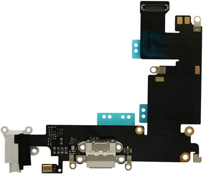 "BAT Fix Brand New USB Charging Port Connector Ribbon Flex Cable Compatible for iPhone 6 Plus 5.5"" Grey"