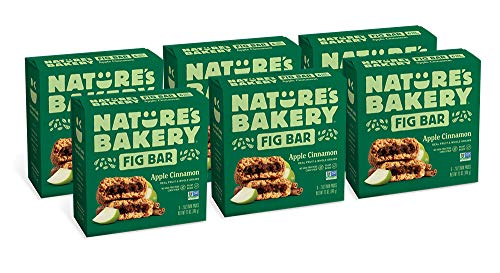 Nature's Bakery Whole Wheat Fig Bars, Apple Cinnamon (36 Bars), Packaging May Vary, Non GMO, Vegan Snacks