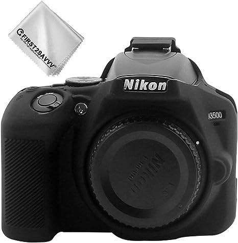 Negro Cuerpo Completo Caucho de TPU Funda Estuche Silicona con Textura Fina para cámara para Nikon D3500 XJPJ-Nikon D3500-GJ-T01G1: Amazon.es: Electrónica