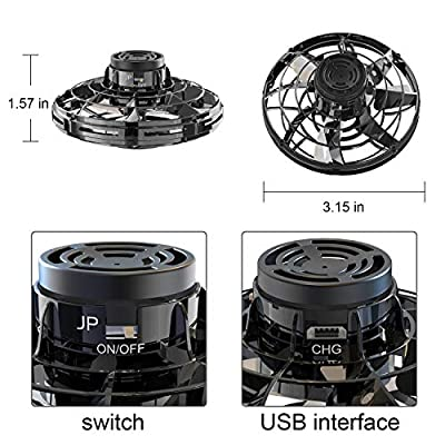 FlyNova Mini Drone UFO Flying Toys, Hand Operated Drones for Kids, Flying Ball as a Best Gift for Boys and Girls (Black): Toys & Games