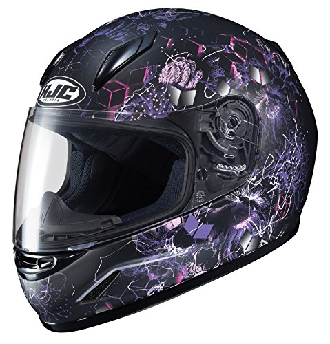 HJC Unisex-Child Full face CL-Y Vela Helmet (Black/Purple, Small)