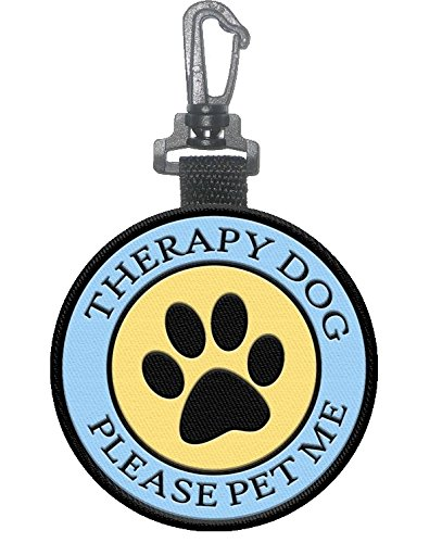 Sided Therapy Dog Identification Pawprint