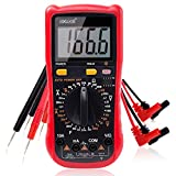 Multimeter, Exwell Digital LCD Auto Ranging Multimeter with Two Sets Multimeter Test Leads, 7.3x3.5x1.9 Inches Voltage Tester/MeterBlack Protective case included