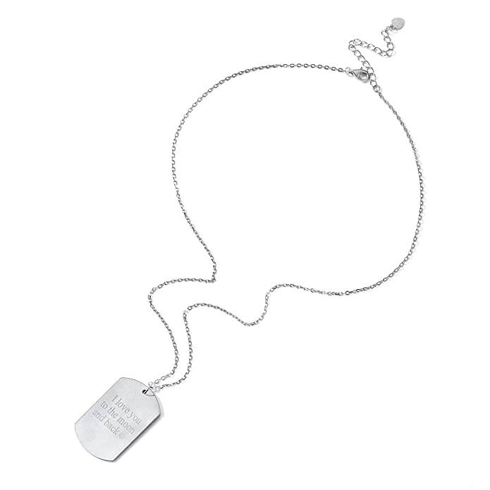 Amazon Com Custom Photo Necklace Free Text Engraving Back Side
