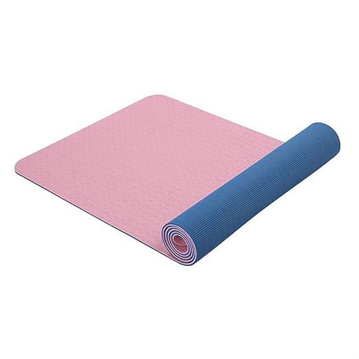 jkkl Estera de yoga antideslizante India Tpe 6 mm Ejercicio ...