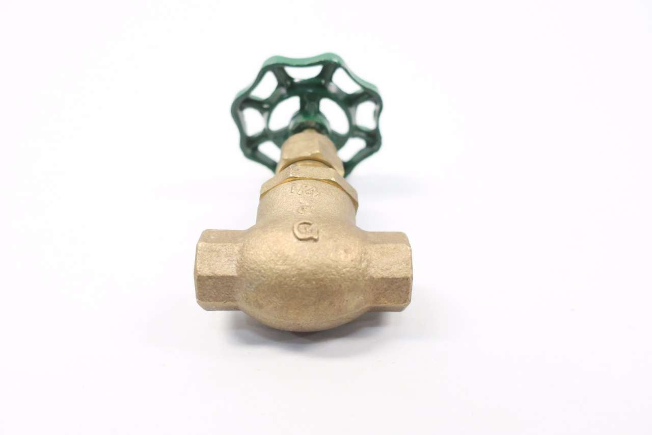 GRINNELL 3200 1//4 in NPT Bronze Threaded Globe Valve D557286