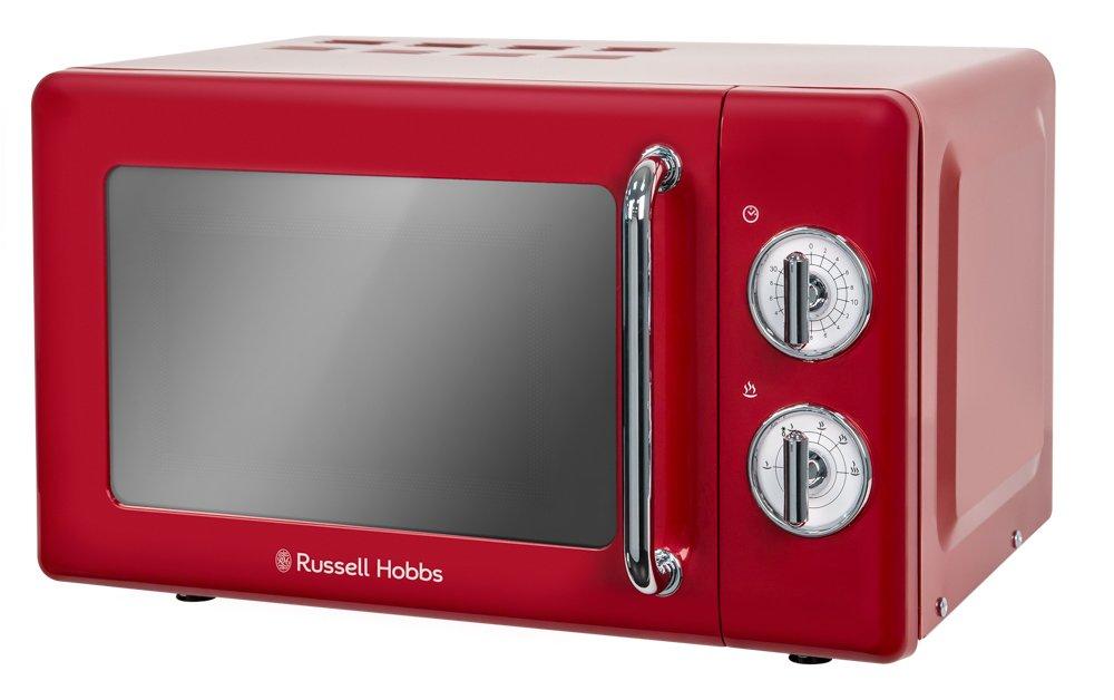 Russell Hobbs microondas simple de litros retro RHRETMMR rojo