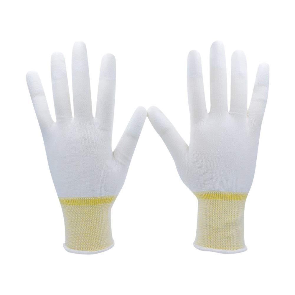 Wangyueha Handschuhe PU Fingertip Light Industrial Coating Arbeitshandschuhe Wei/ß gestrickte Baumwollhandschuhe 10 Paar