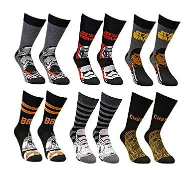 54d8816b93 Mens Star Wars Socks (12 Pack) Official Star Wars Socks  Amazon.co ...