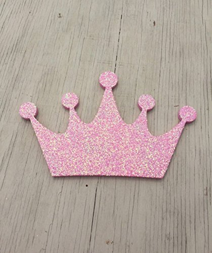 Light Pink Glitter Princess Crown Decor, Wall Decoration, Girls Bedroom