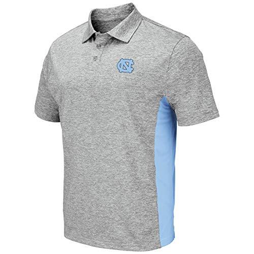 Colosseum Men's NCAA-Drive- Golf/Polo Shirt-Heather Grey-North Carolina Tar Heels-XL ()