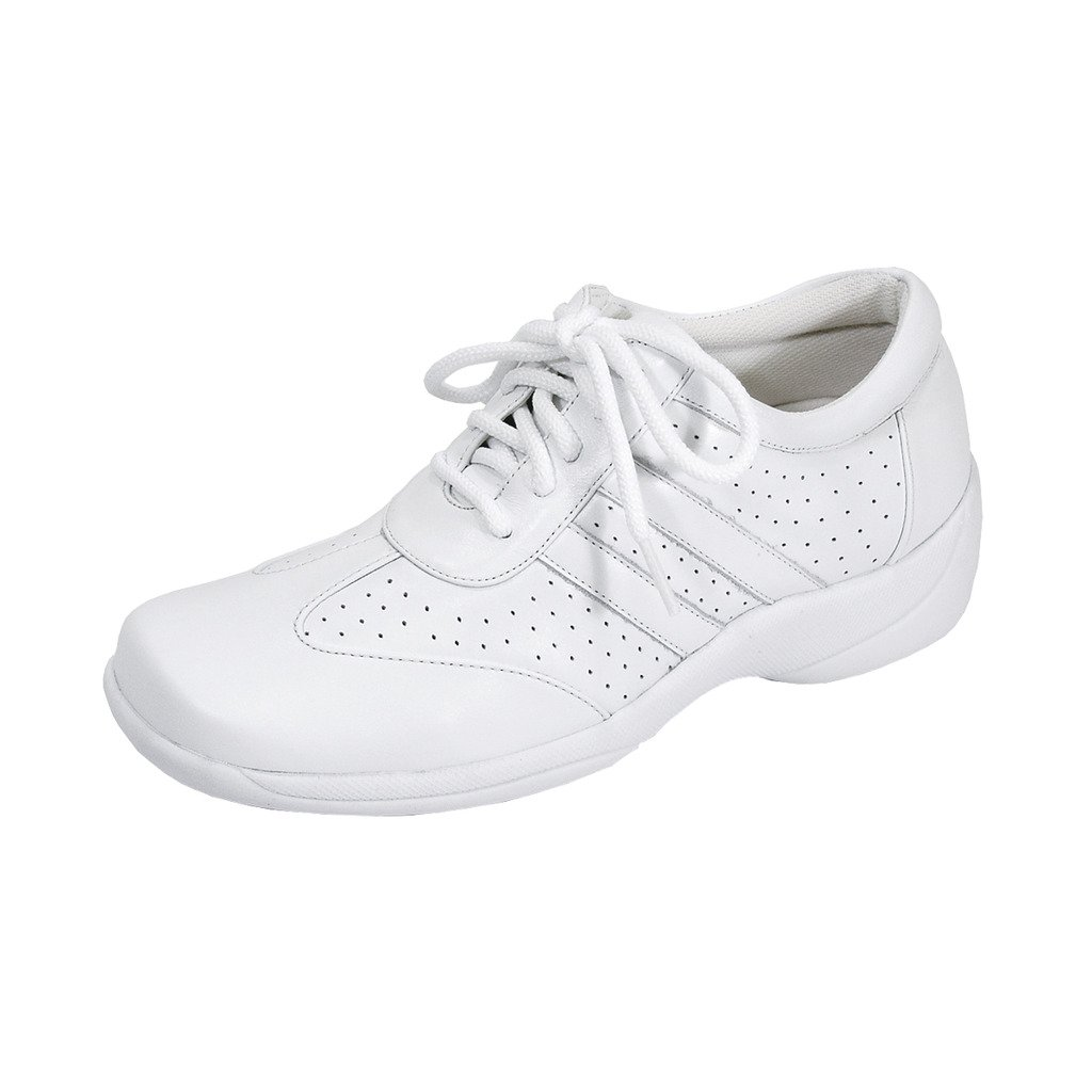 24 Hour Comfort  Donna Women Wide Width Lace up Closure Shoe White 8