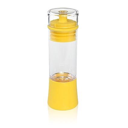 Botella dispensador de aceites o salsas con pincel de silicona.
