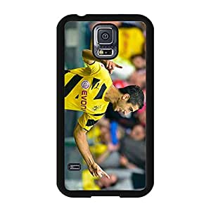 Custom Borussia Dortmund BVB09 Mobile Phone Case Cover Handsome Cool Official Bundesliga FC Player Henrikh Mkhitaryan Skin Cover Case for Samsung Galaxy S5 I9600 BVB09 Series