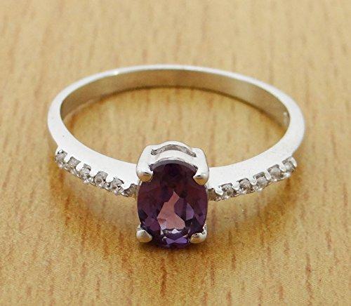 Banithani925 argent pierre topaze mystique indien mode anneau de bijoux