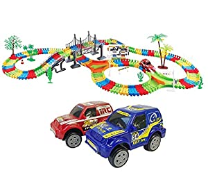 Kids Variable Track Set With Car- With Music And Led Lights/magic Track