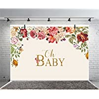 Leyiyi 10x8ft Photography Backdrop Baby Shower Background Pregnant Celebration Oh Baby Character Flowers Garland Dessert Table Decor Happy Birthday Banner Photo Portrait Vinyl Studio Video Prop