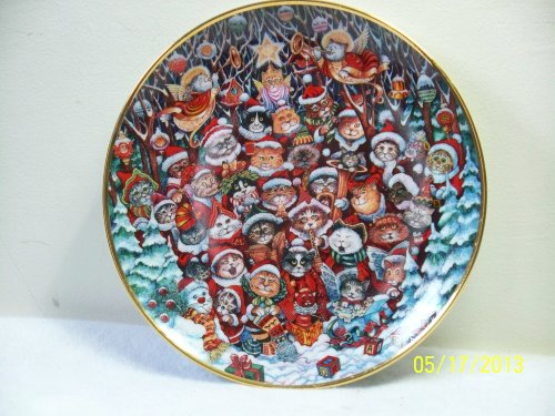 "Franklin Mint Collectible ""Santa Claws"" Plate Cats"