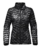 The North Face Women's Thermoball Full Zip Jacket Black Exploded Lupine Print - XL