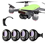 Drone Fans 4 Pack Camera Lens Filter ND4 & ND8 & ND16 & ND32 Filters Kit ND Dimmer for DJI SPARK Won't Affect Gimbal Calibration
