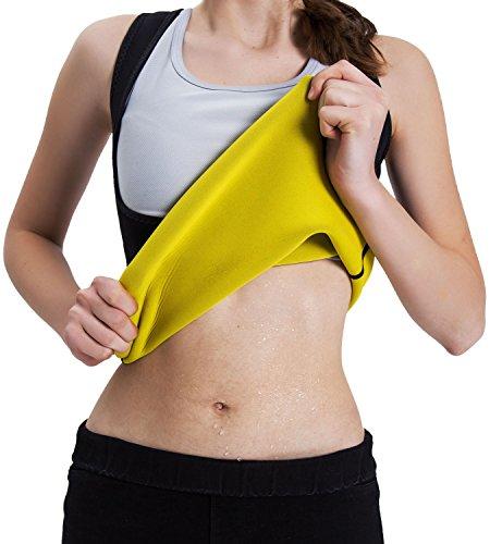 99412854dd IFLOVE Waist Trainer Corset Vest For Weight Loss womens body shaper Sauna  Slimming Hot Sweat Tank Top Workout Shapewear Neoprene No Zipper M