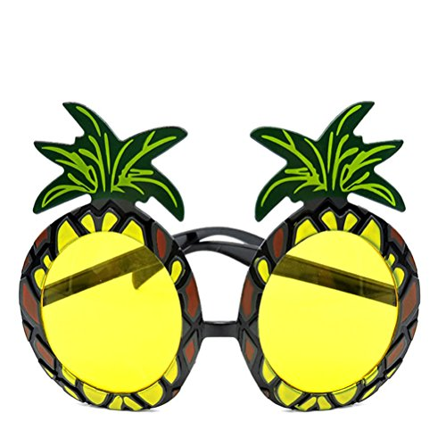 LUOEM Luau Party Eyeglasses Novelty Pineapple Glasses Hawaii Themed Photo Props Party Accessory for Kids and Adult (Hawaii Accessories)