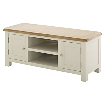 new concept c2a82 69f6c The Furniture Market Cotswold Cream Painted Large Widescreen ...