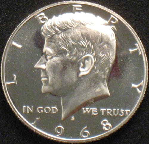 1968 Kennedy Proof 40% Silver Half Dollar -