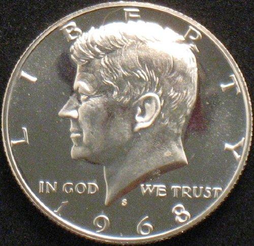1968 Kennedy Proof 40% Silver Half Dollar Clad Half Dollars