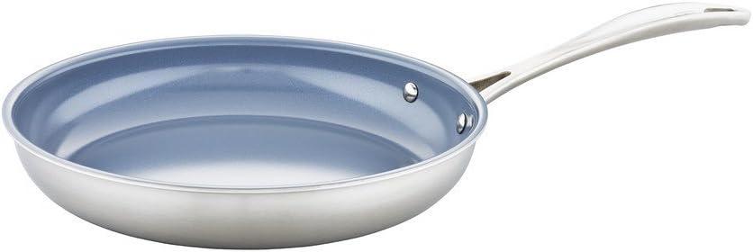 ZWILLING J.A. Henckels Spirit Ceramic Nonstick Fry Pan, 10-inch, Stainless Steel