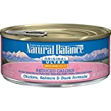 Natural Balance Original Ultra Whole Body Health Reduced Calorie Wet Cat Food, Chicken, Salmon & Duck Formula, 6-Ounce Can (Pack of 24)