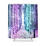Pink Ombre Ruffle Shower Curtain Sukuraceci Bathroom Magical Forest Lavender Aqua Teal Ombre Shower Curtain 72