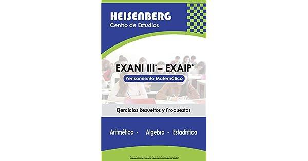 Amazon.com: EXANI III - EXAIP: Pensamiento Matemático ...