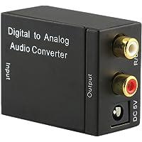 Childplaymate Digital Optical CoaxCoaxialToslink to Analog RCA L/R Audio ConverterAdapter